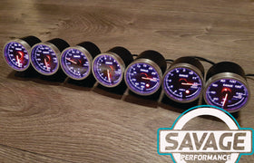 60mm Savage Oil Pressure Gauge 7 Colours