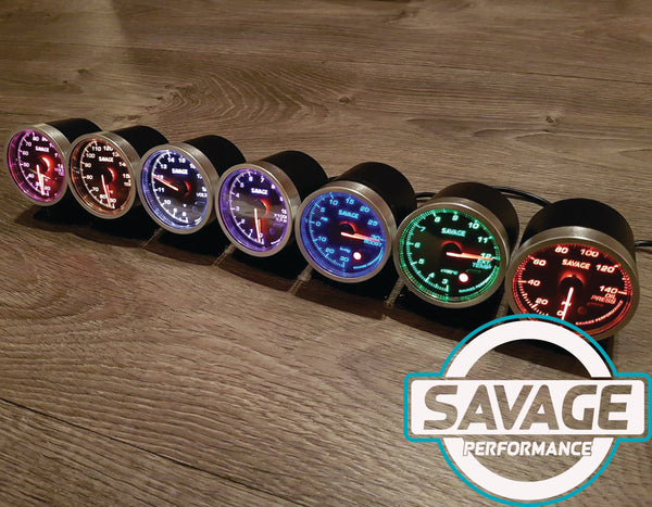 60mm Savage RPM (Tacho) Gauge 7 Colours