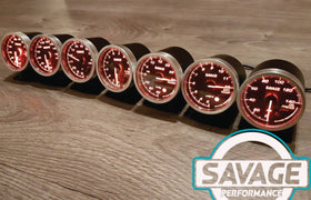 60mm Savage AFR Wideband (Air Fuel Ratio) Gauge 7 Colours
