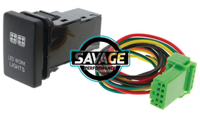 Jaylec - LED Work Lights Switch - GREEN - Hilux GUN Series (2015 on)