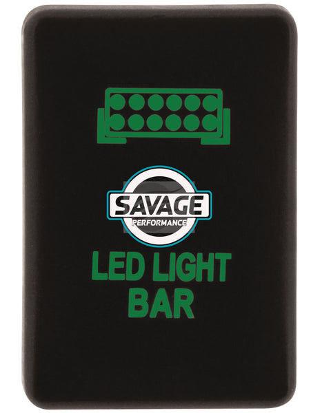 Jaylec - LED Light Bar Switch - GREEN - Hilux GUN Series (2015 on)