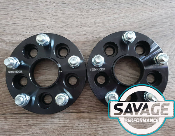 5x100 to 5x114 20mm CONVERSION Wheel Spacers SUBARU