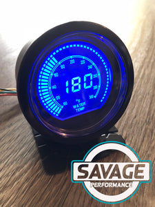 60mm DIGITAL Water Temperature Gauge Red / Blue *Savage Performance*
