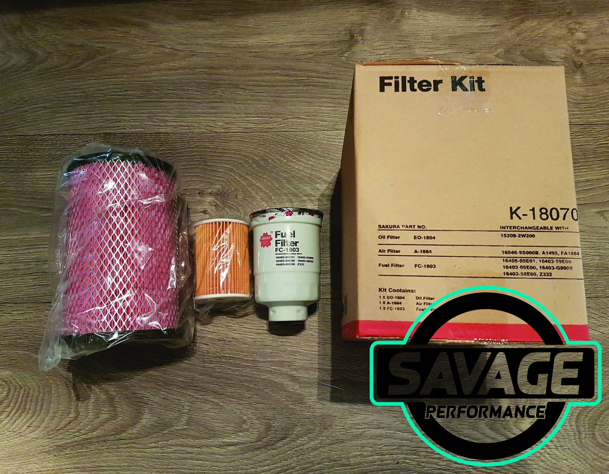 Sakura Filter Service Kit Nissan Navara D22 Zd30tt 30l Turbo Fuel Filters