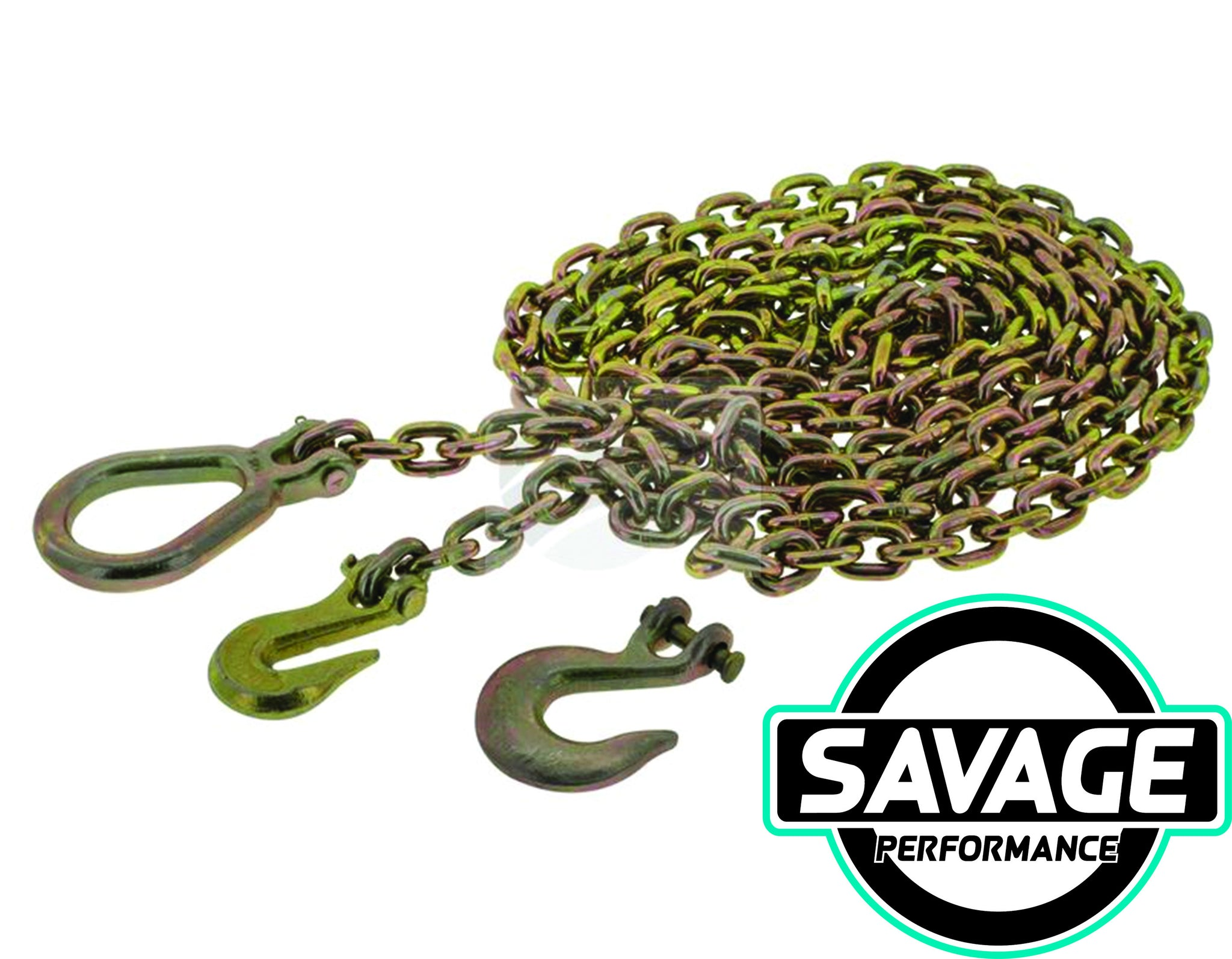 HULK 4x4 Drag Chain 8mm X 5m 8000KG with 3 Hooks *Savage Performance*