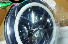 7 Inch HALO Round LED Headlights