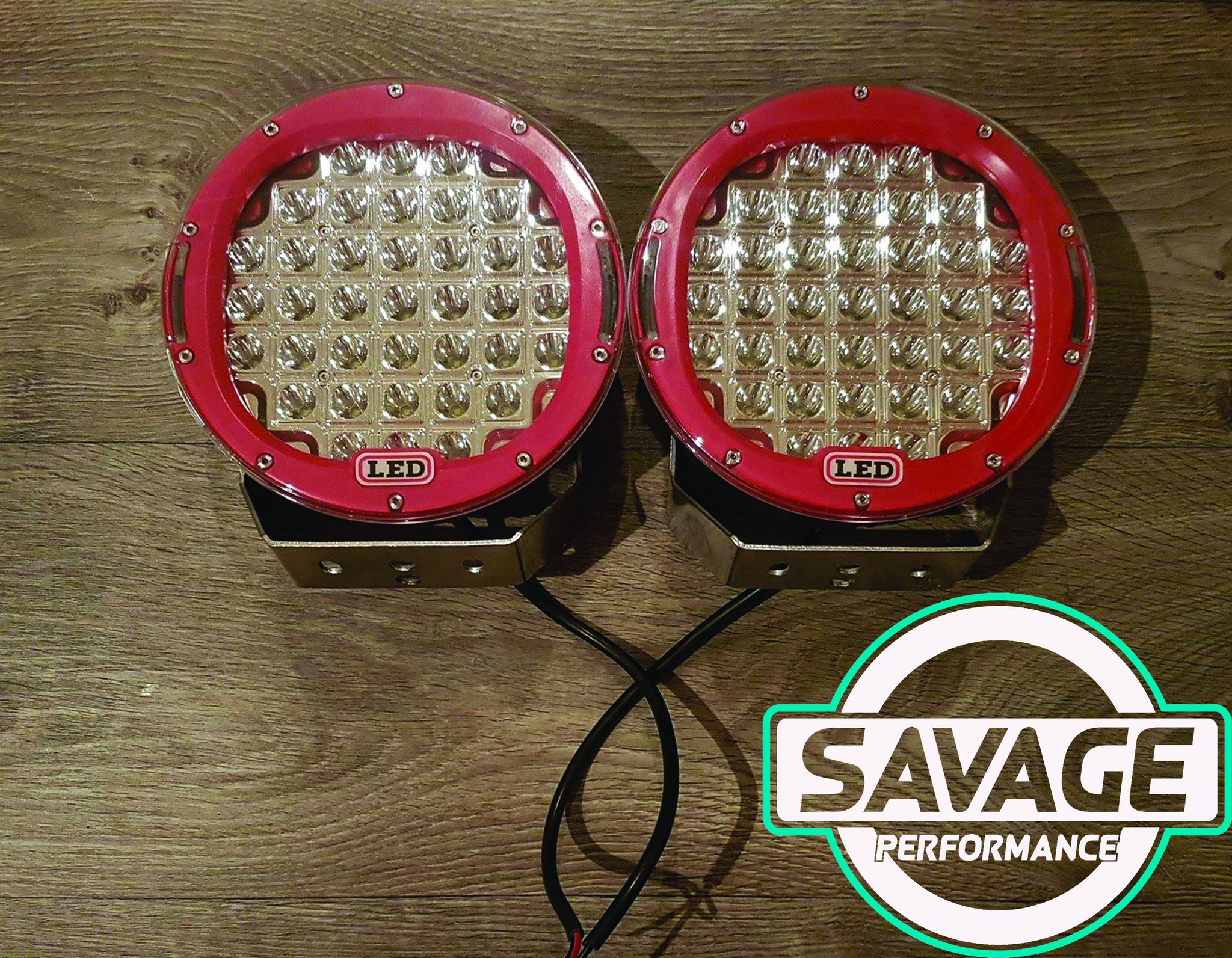 9 Inch 185W LED Spot Light (PAIR)