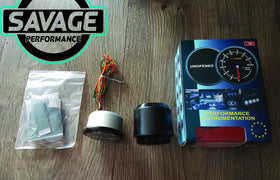 60mm DIGITAL RPM (Tacho) Gauge Red / Blue *Savage Performance*