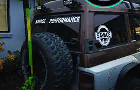 Savage Performance Window Banner (White)