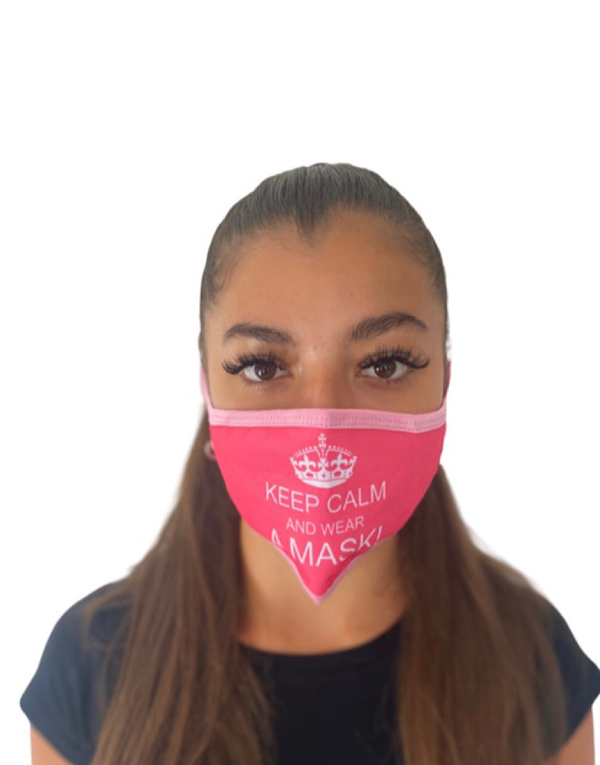 Hidden Mask Women's 'Keep Calm and Wear A Mask'