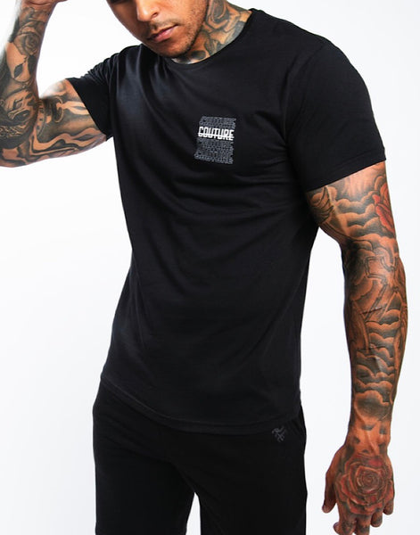 Fresh Couture Strike Rise T-Shirt Black 'Mono Pack'