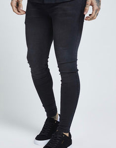 SikSilk Skinny Denim – Washed Black