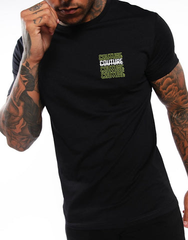 Fresh Couture Strike Rise T-Shirt Black 'Volt Pack