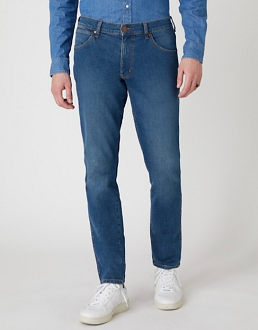 Wrangler LARSTON MIDWEIGHT JEANS IN HUNTER BLUE