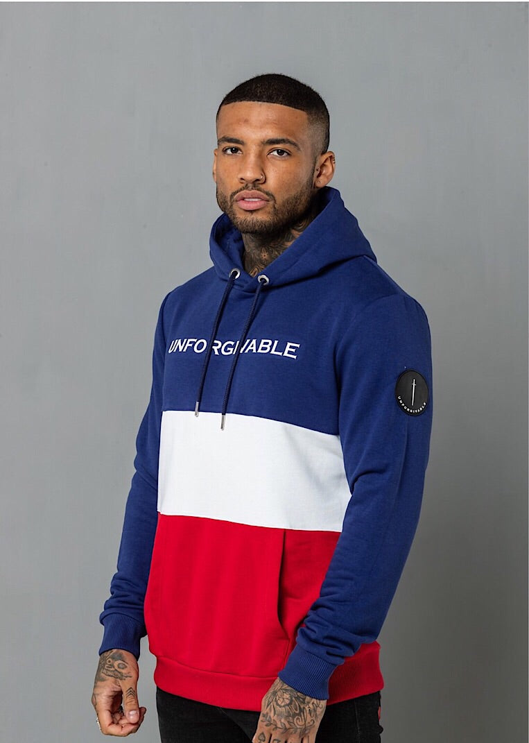 Unforgivable Valiant Hoodie in 3 Colours Blue/White/red