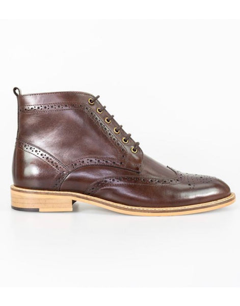 Cavani Holmes Brown Signature Lace Up Boots