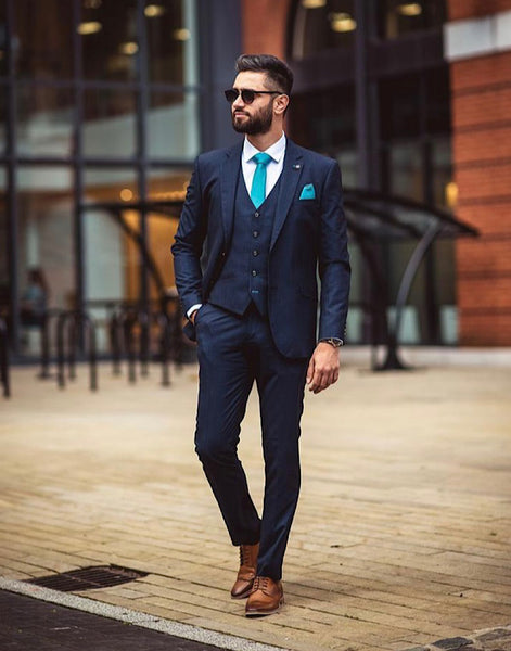 Cavani SEEBA NAVY THREE PIECE SUIT