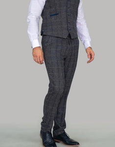 Cavani ALBERT GREY TWEED CHECK Trousers