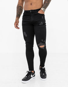 Nimes super skinny spray on jeans Black ripped