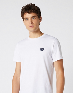 Wrangler SIGN OFF TEE IN WHITE