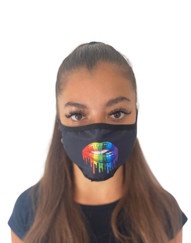 Hidden Mask Rainbow Lips