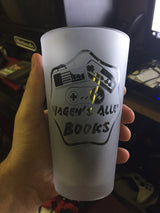Hagen's Alley Books Pint Glass