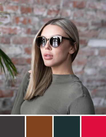 Light Hair Sunglasses Colour Guide