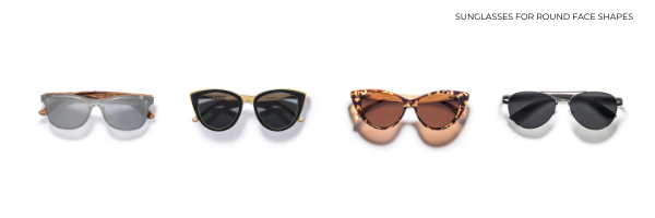 Wood sunglasses for round faces