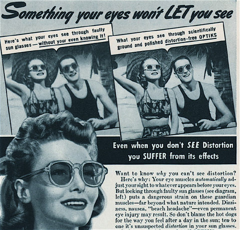 Image of sunglasses on newspaper