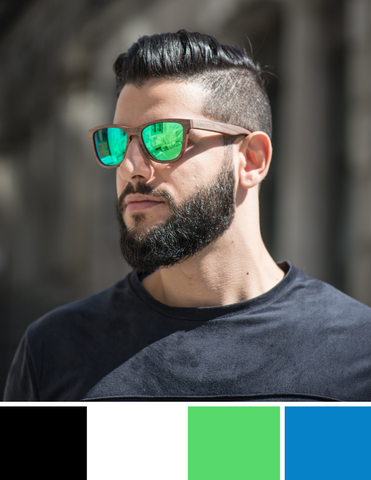 Dark Hair Sunglasses Colour Guide