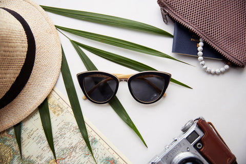 Women Bamboo Wood sunglasses