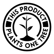 One tree planted logo, this product plants a tree