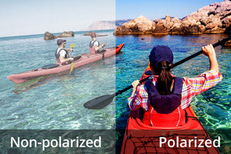 Polarized vision vs non polarized