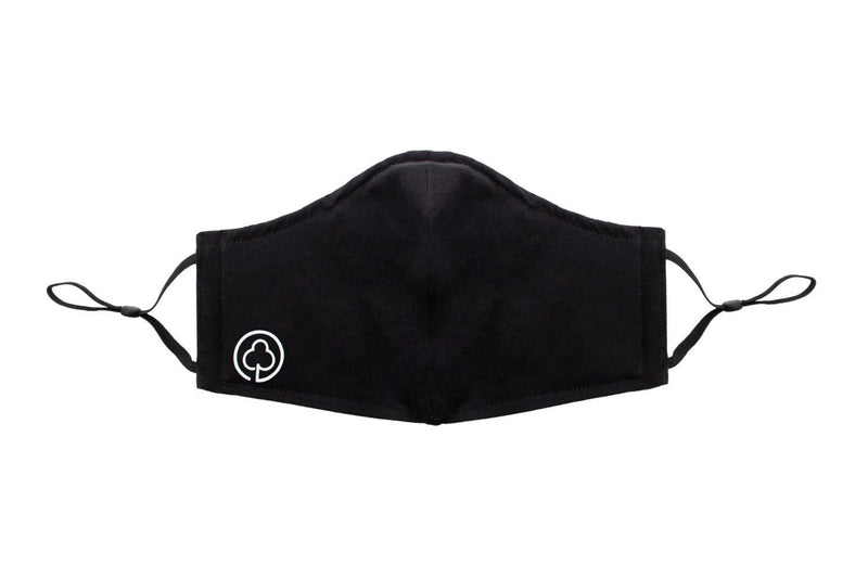 Reusable Cotton Face Mask in Black - Front Side