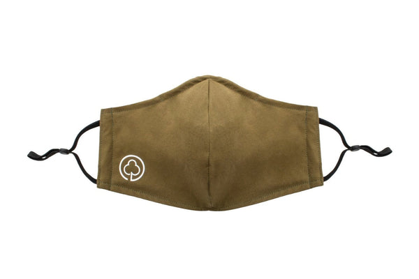 Reusable Cotton Face Mask in Green Front Side