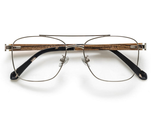 Drive Silver - Retro Square Eyeglasses in Silver Metal