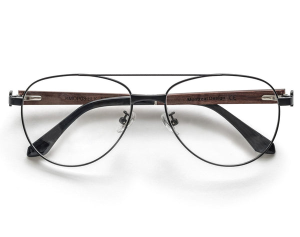 Purpose Black - Vintage Aviator Eyeglasses in Black Metal
