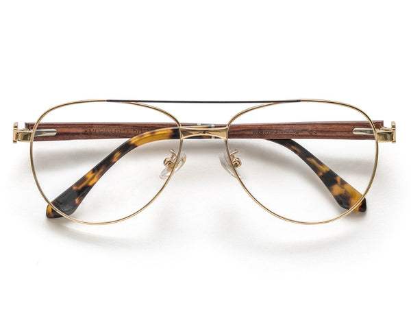Purpose Gold - Vintage Aviator Eyeglasses in Gold Metal
