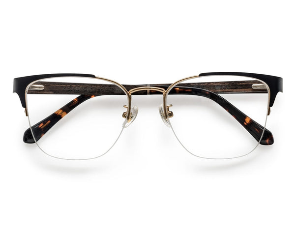 Enchanted Gold - Cat-Eye Eyeglasses in Gold Metal