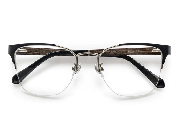 Enchanted Silver - Cat-Eye Eyeglasses in Silver Metal