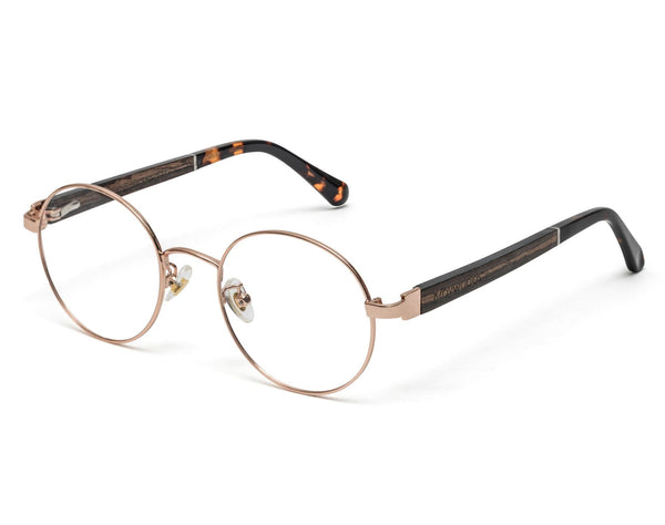 Joy Rose Gold - Round Eyeglasses in Rose Gold Metal