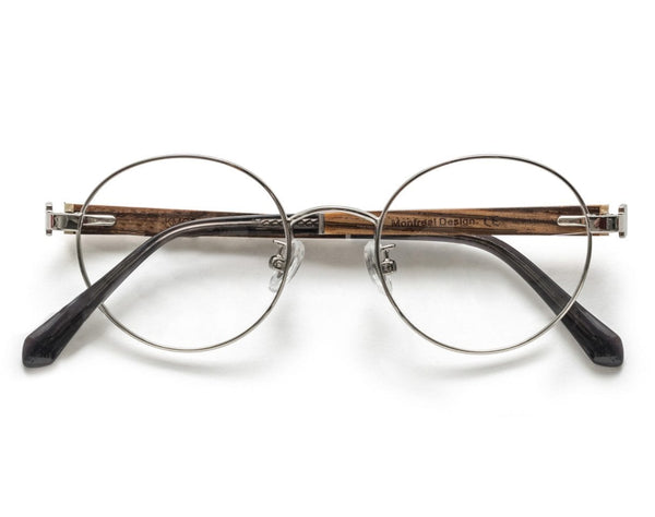 Joy Silver - Round Eyeglasses in Silver Metal