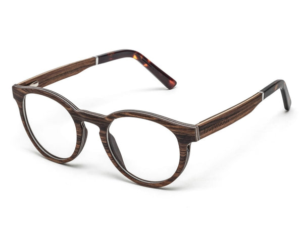 Cheer Rose - Retro Round Eyeglasses made from Rose Wood
