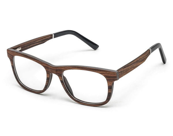 Brave Rose - Square Eyeglasses made from Rose Wood