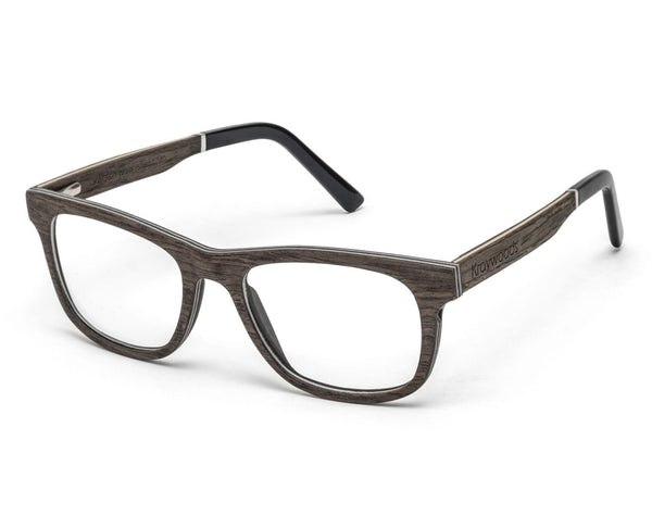 Brave Brown - Square Eyeglasses made from Walnut Wood