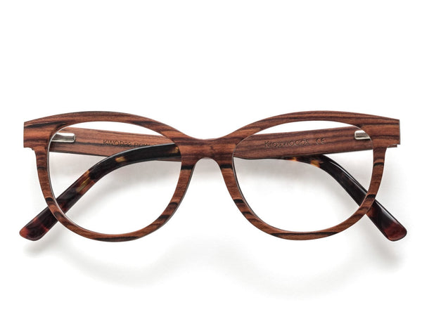 Charm Rose - Cat-Eye Eyeglasses made from Rose Wood