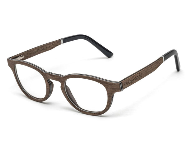 Harmony Brown - Vintage Browline Eyeglasses made from Oak Wood
