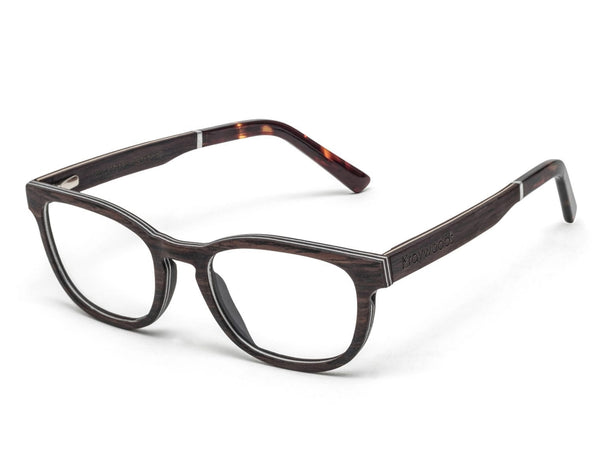 Bliss Purple - Small Rectangle Eyeglasses made from Sandal Wood
