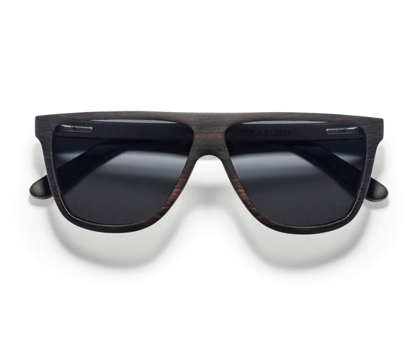 Kraywoods Shade, Shield Sunglasses made from Ebony Wood with 100% UV Protection, Polarized Lenses