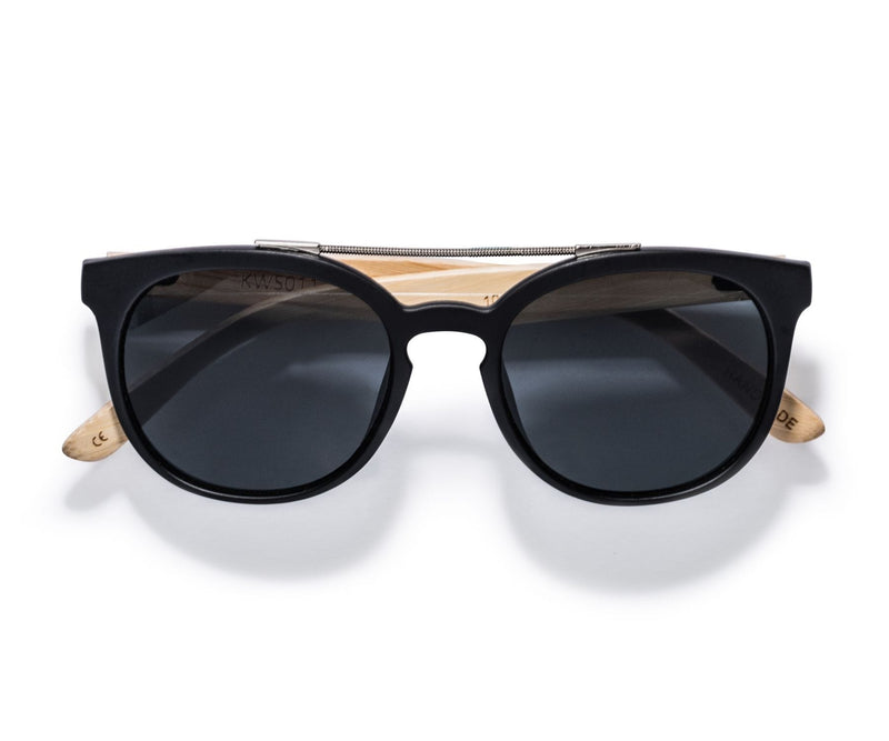 Kraywoods Sienna, D Square Double Bridge Sunglasses made from Bamboo wood with 100% UV Protection Lenses